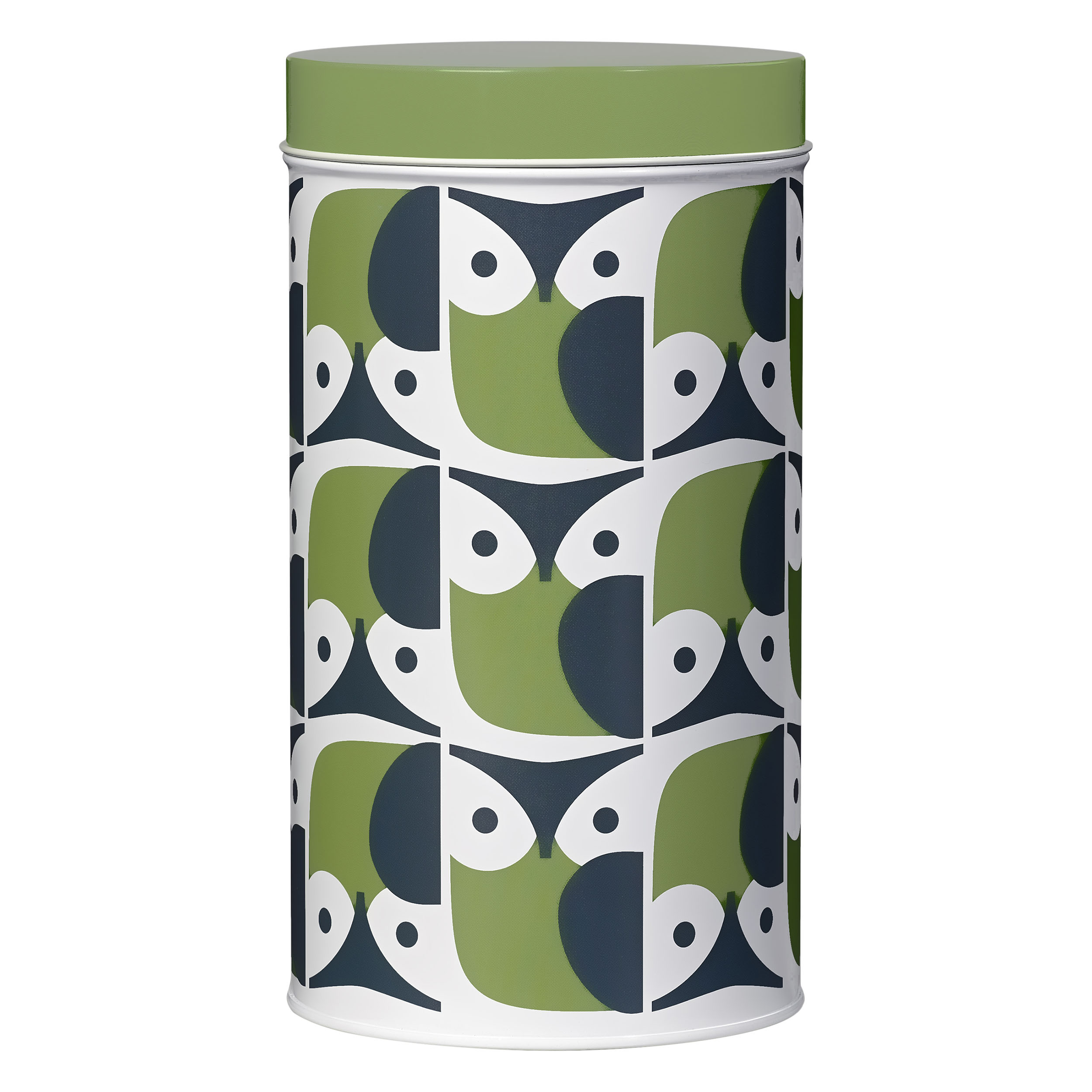 Single Tin Canister, Owl