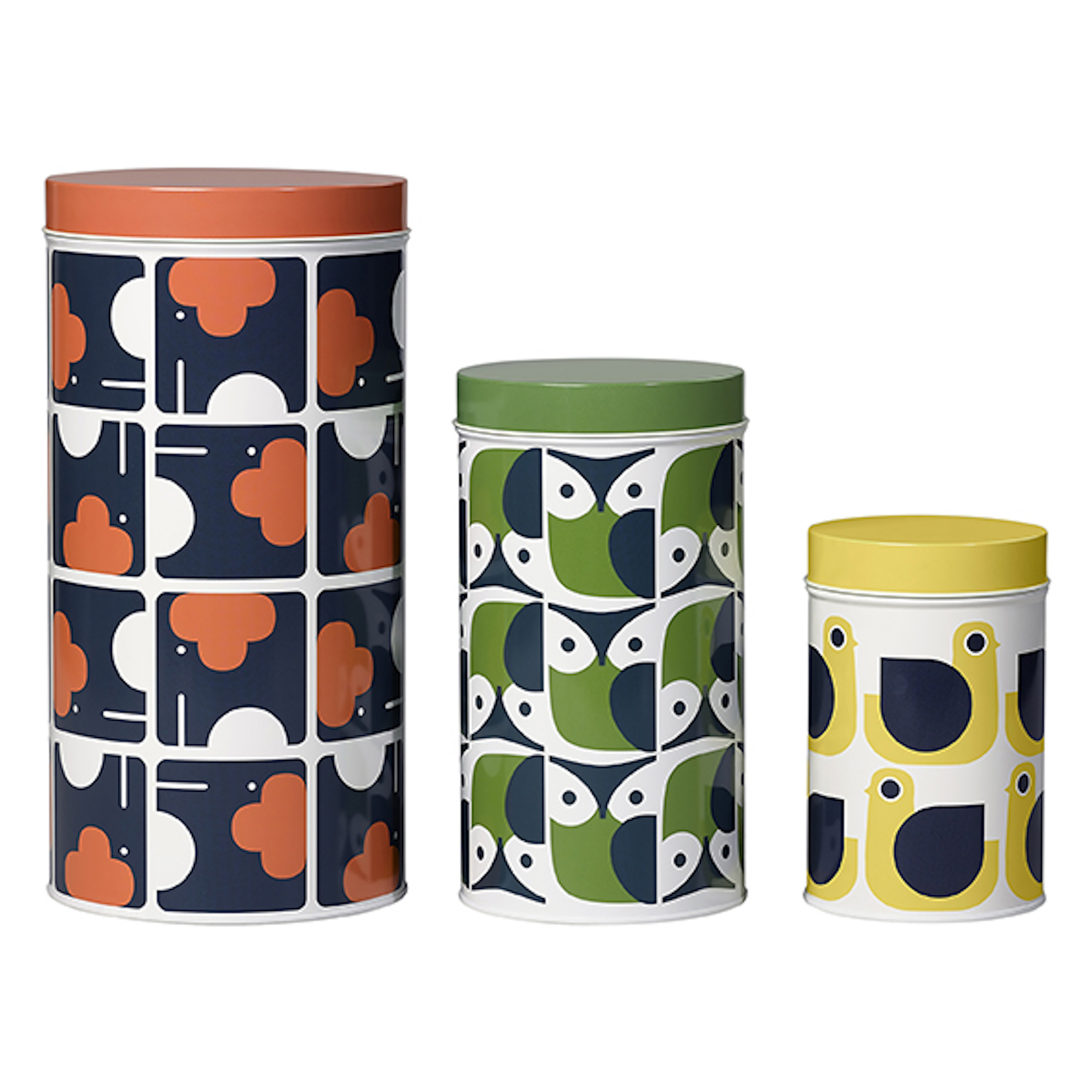 Tin Canisters, Animal, Set of 3