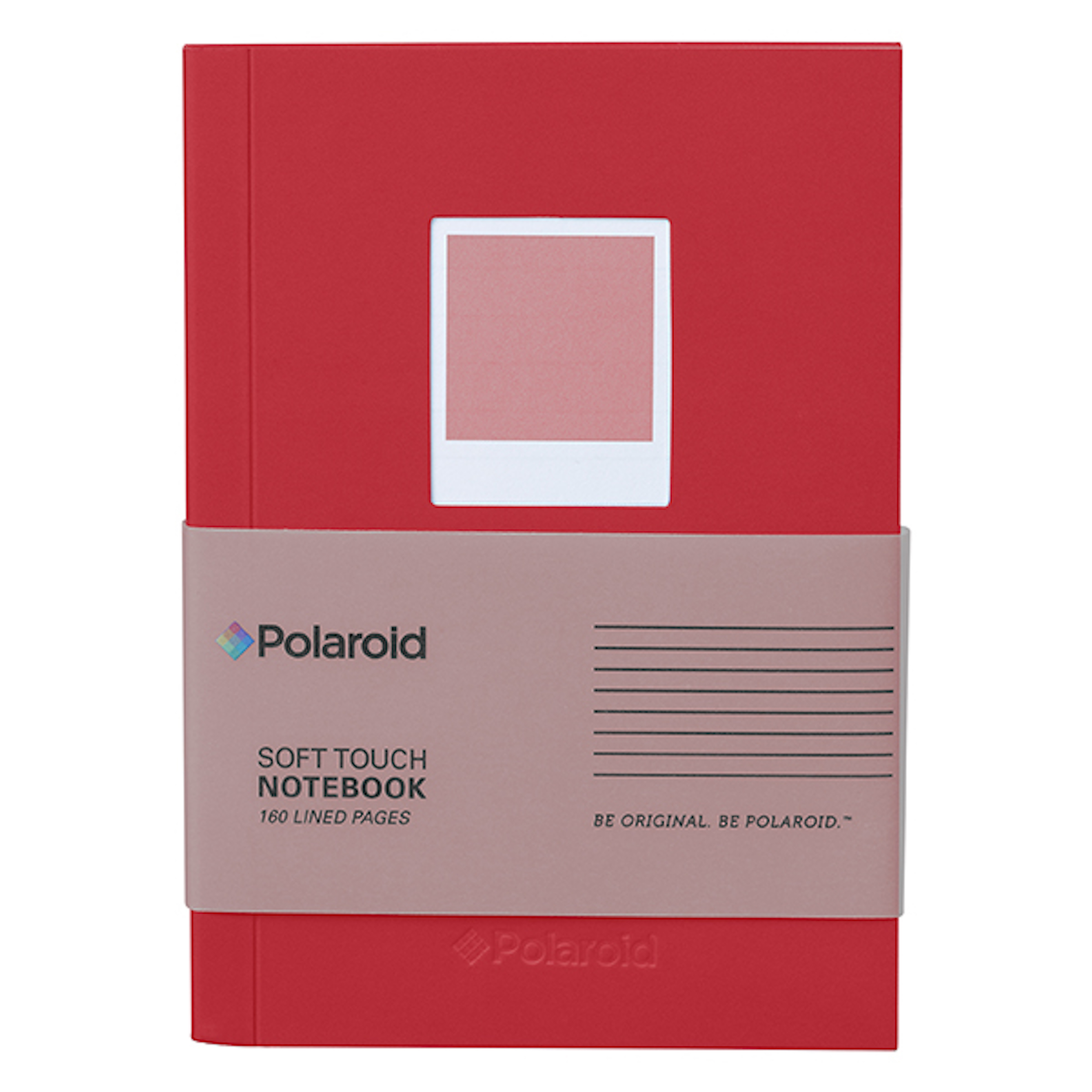 Red Soft Touch Small Notebook