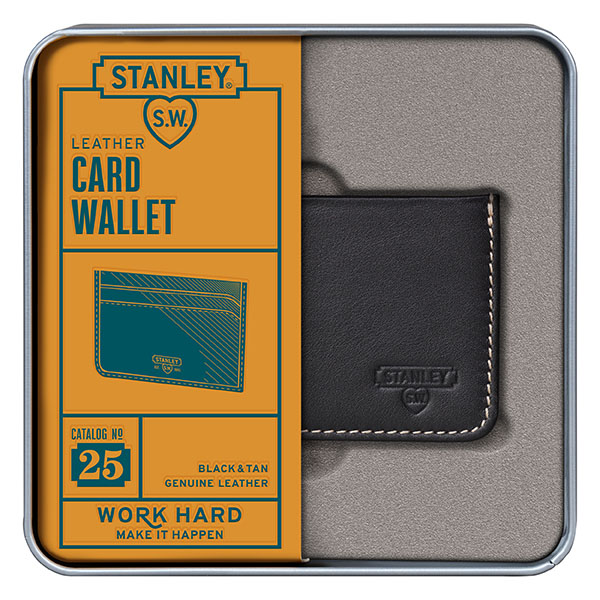 Black with tan on reverse Card Wallet