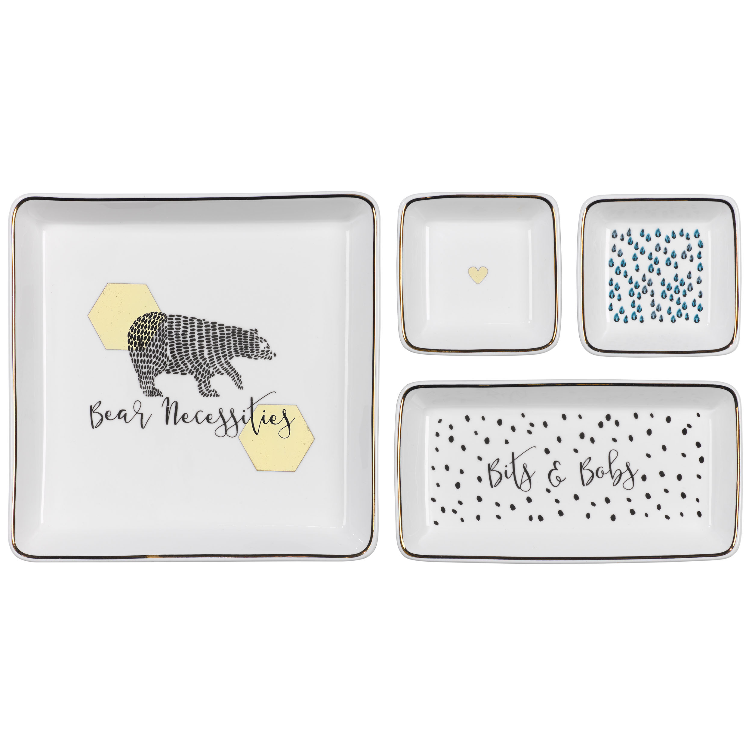 Trinket Trays, 4 piece
