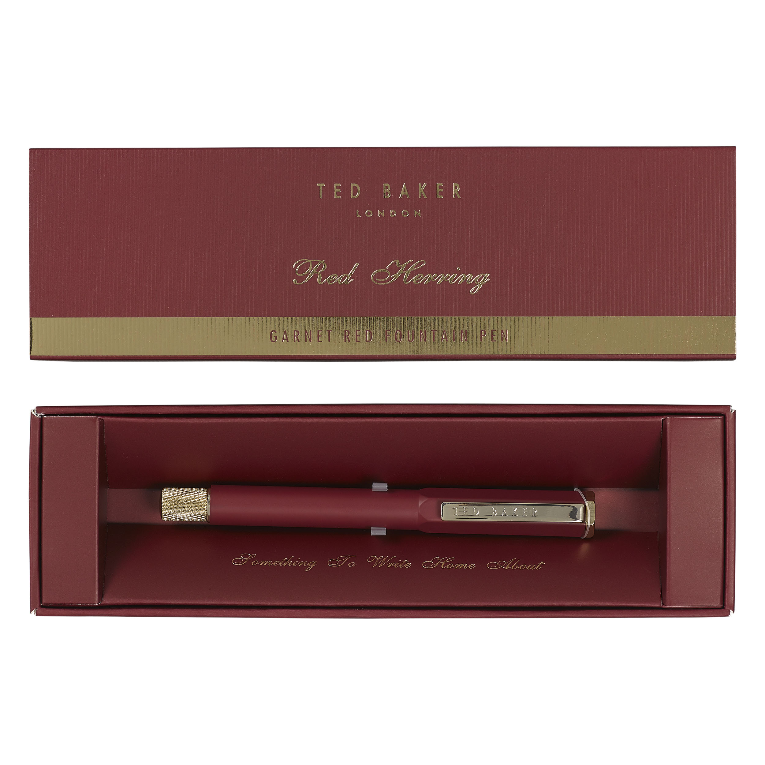 Signature Fountain Pen, Garnet Red