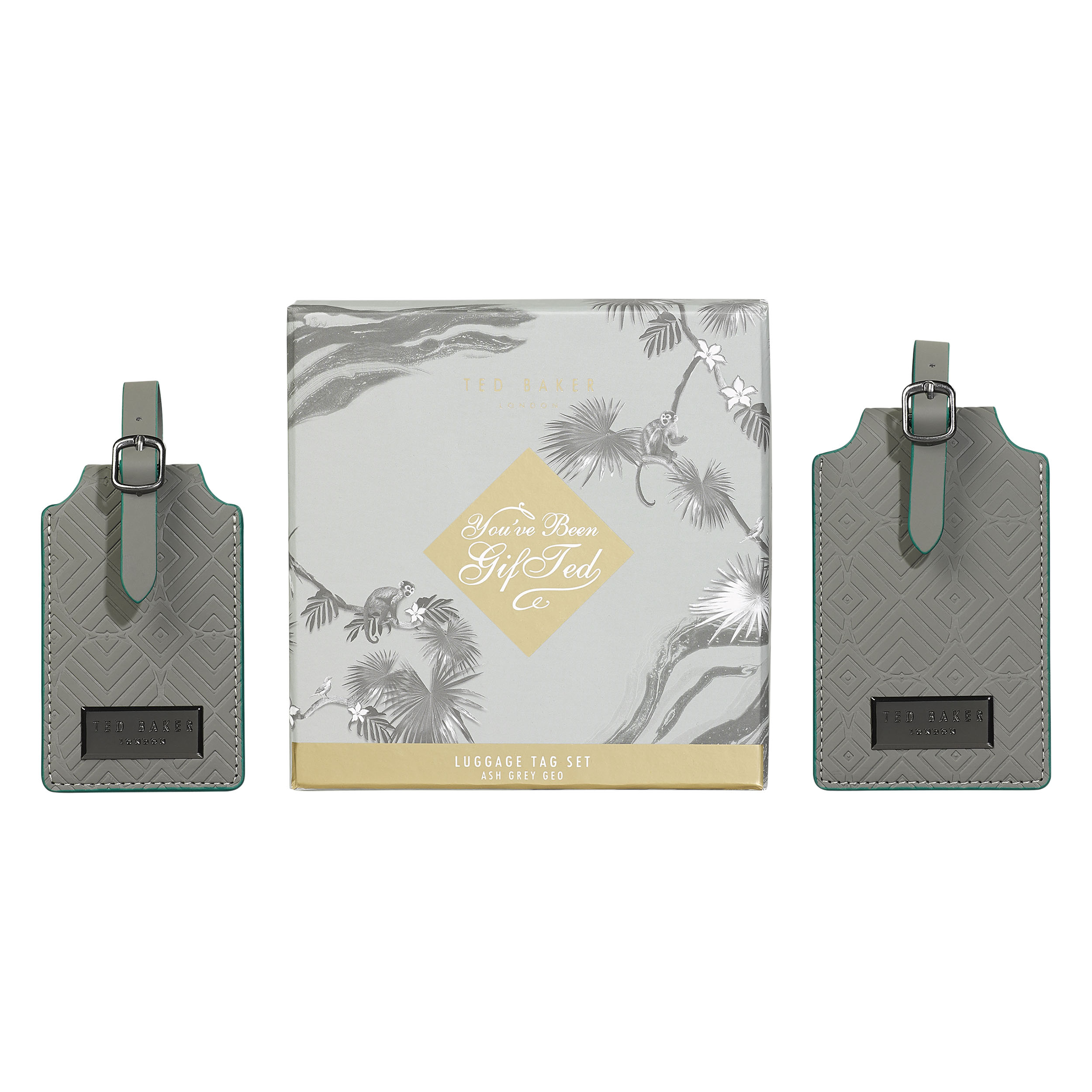 Luggage Tags, Ash Grey, Set of 2