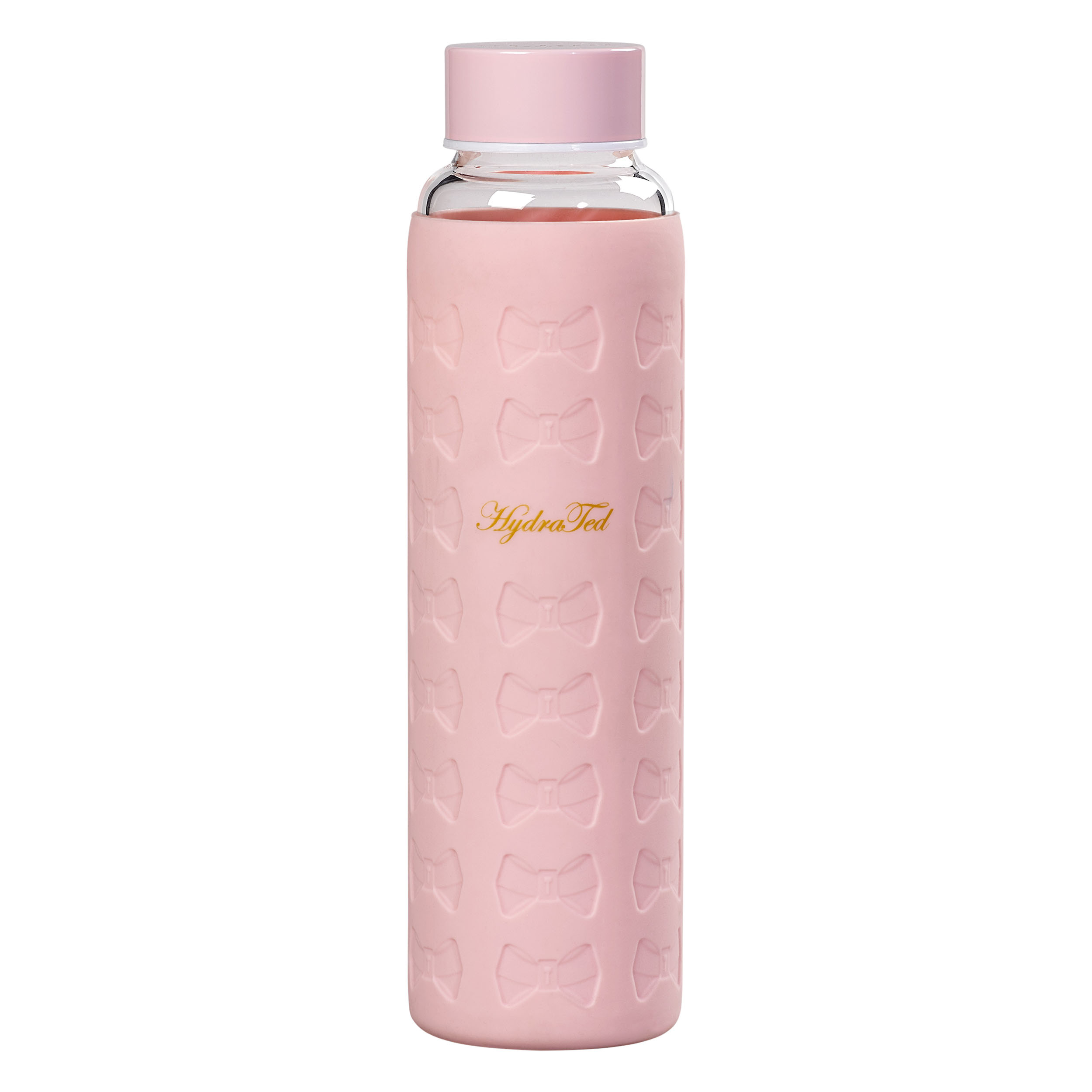 Glass Water Bottle, Pink