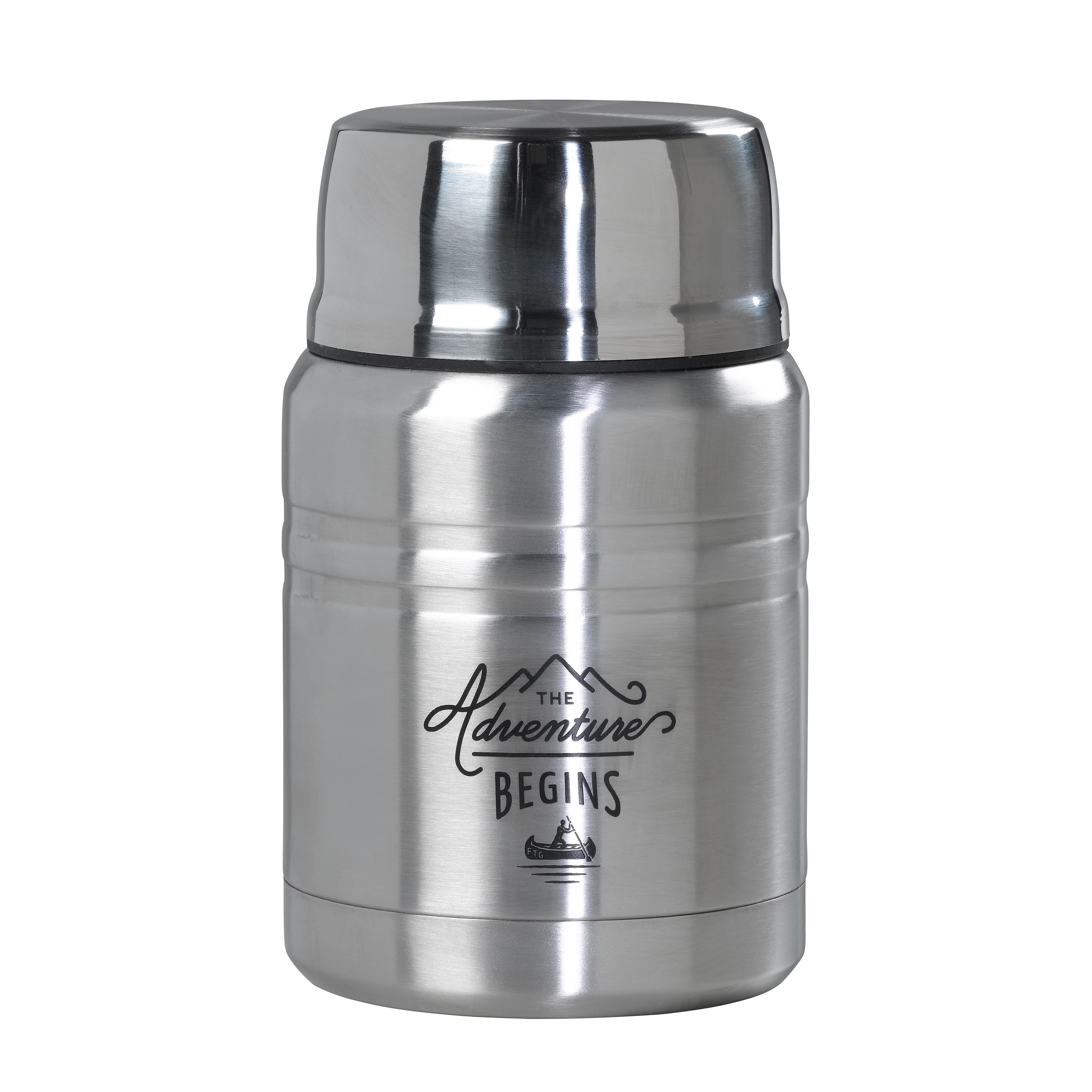 Steel Food Flask with Spoon
