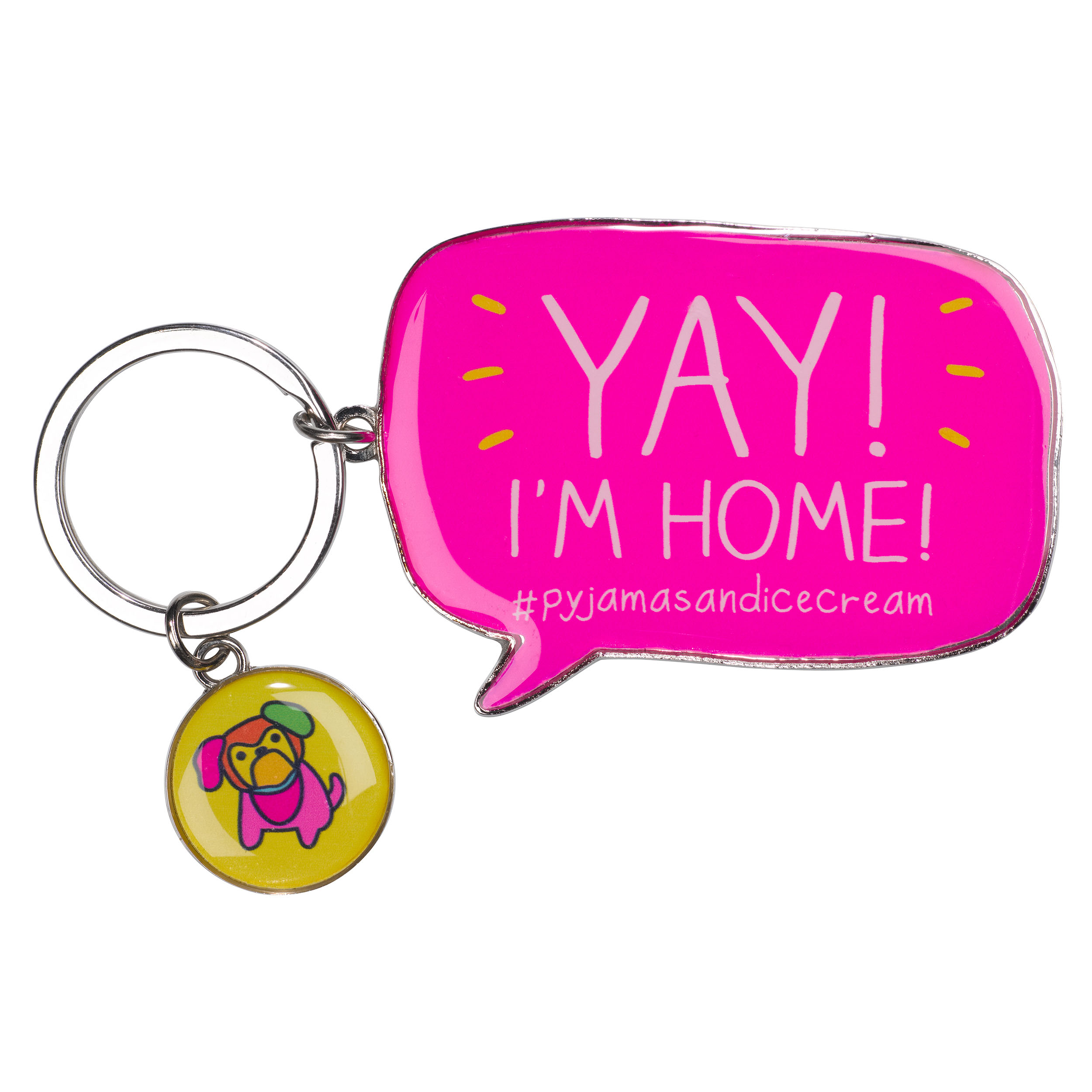 Yay! I'm Home' Keyring