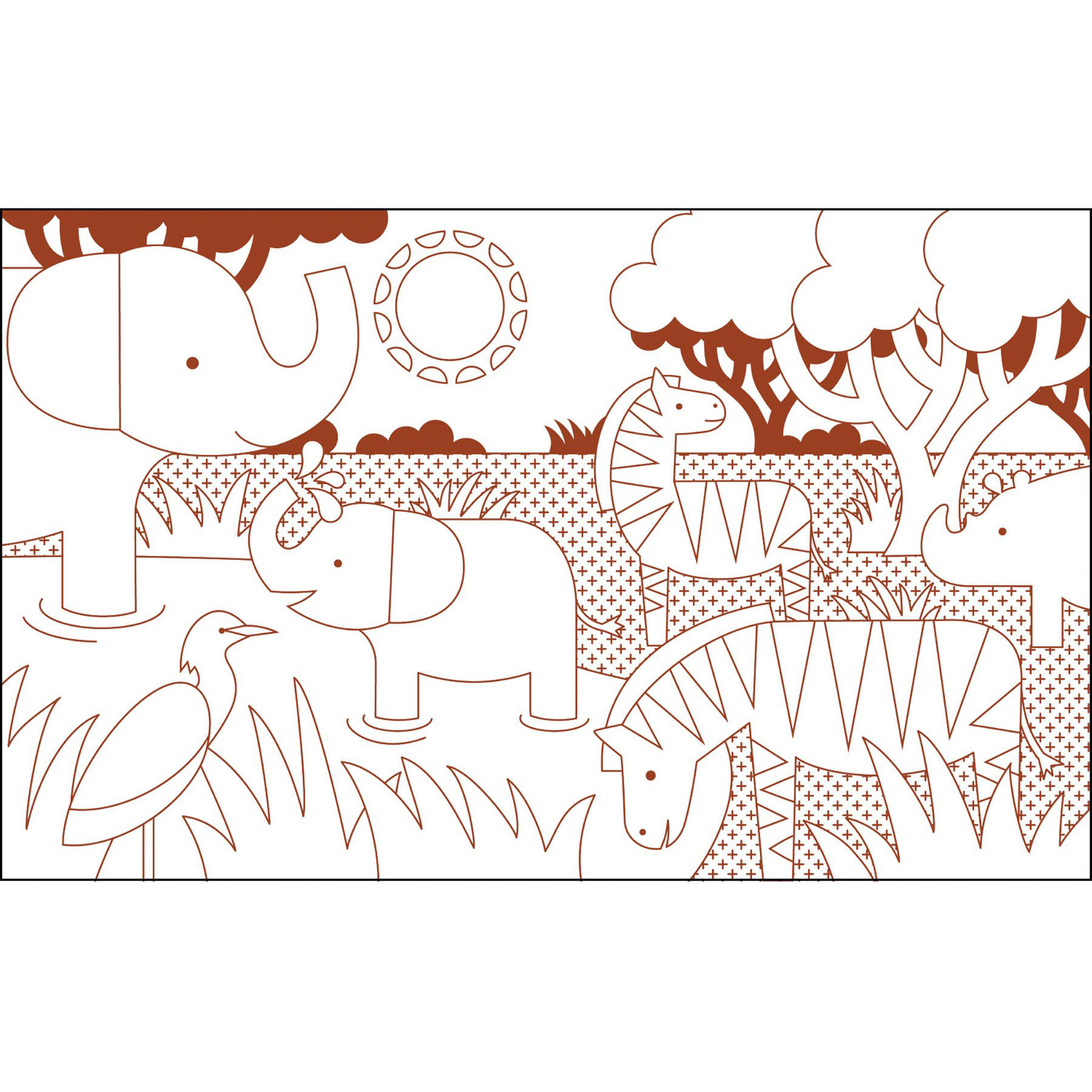 Animal World Colouring Book
