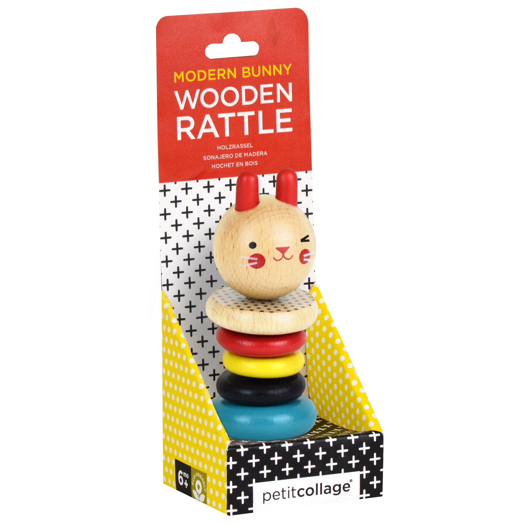 Modern Bunny Wood Rattle Toy