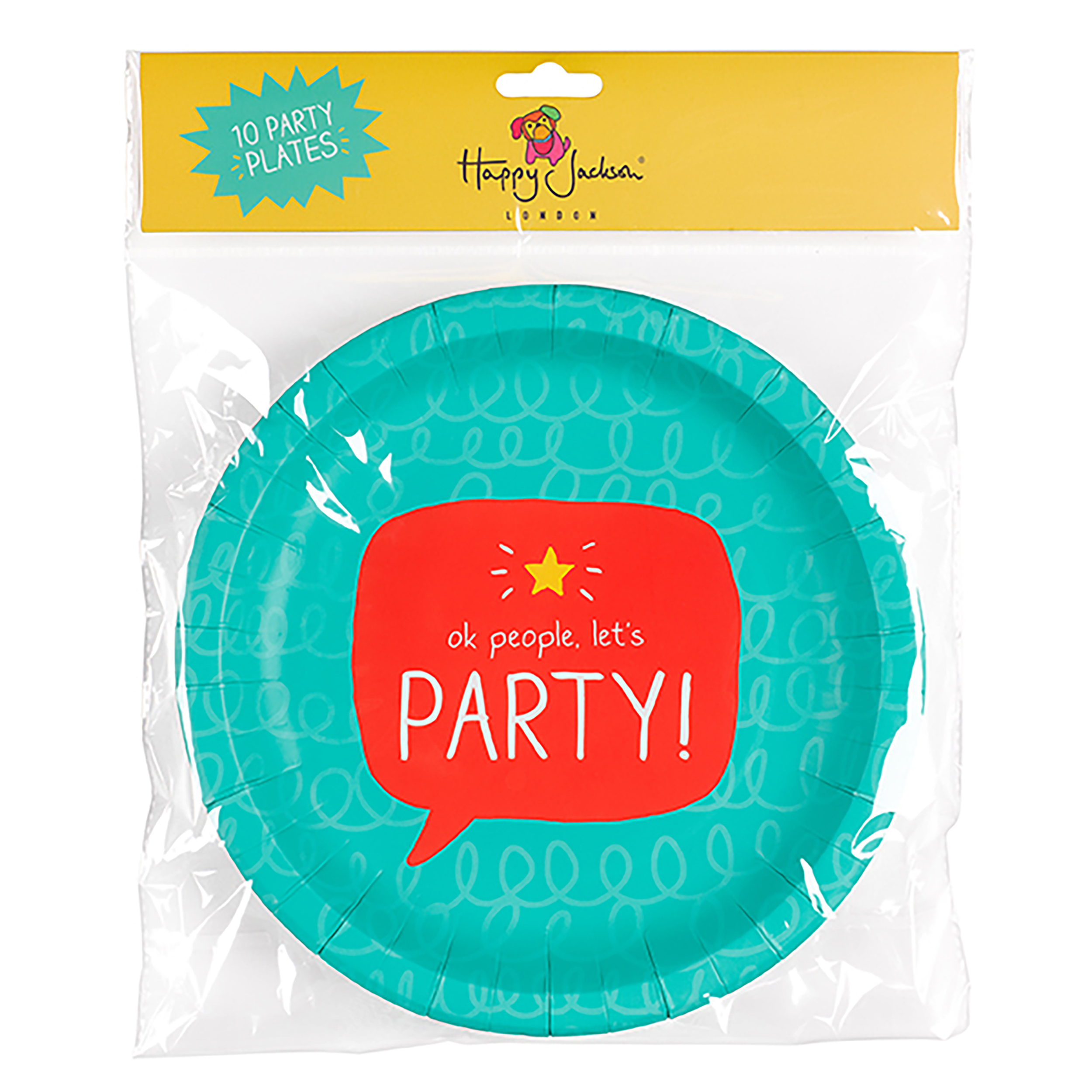OK People Let's Party' Party Plates