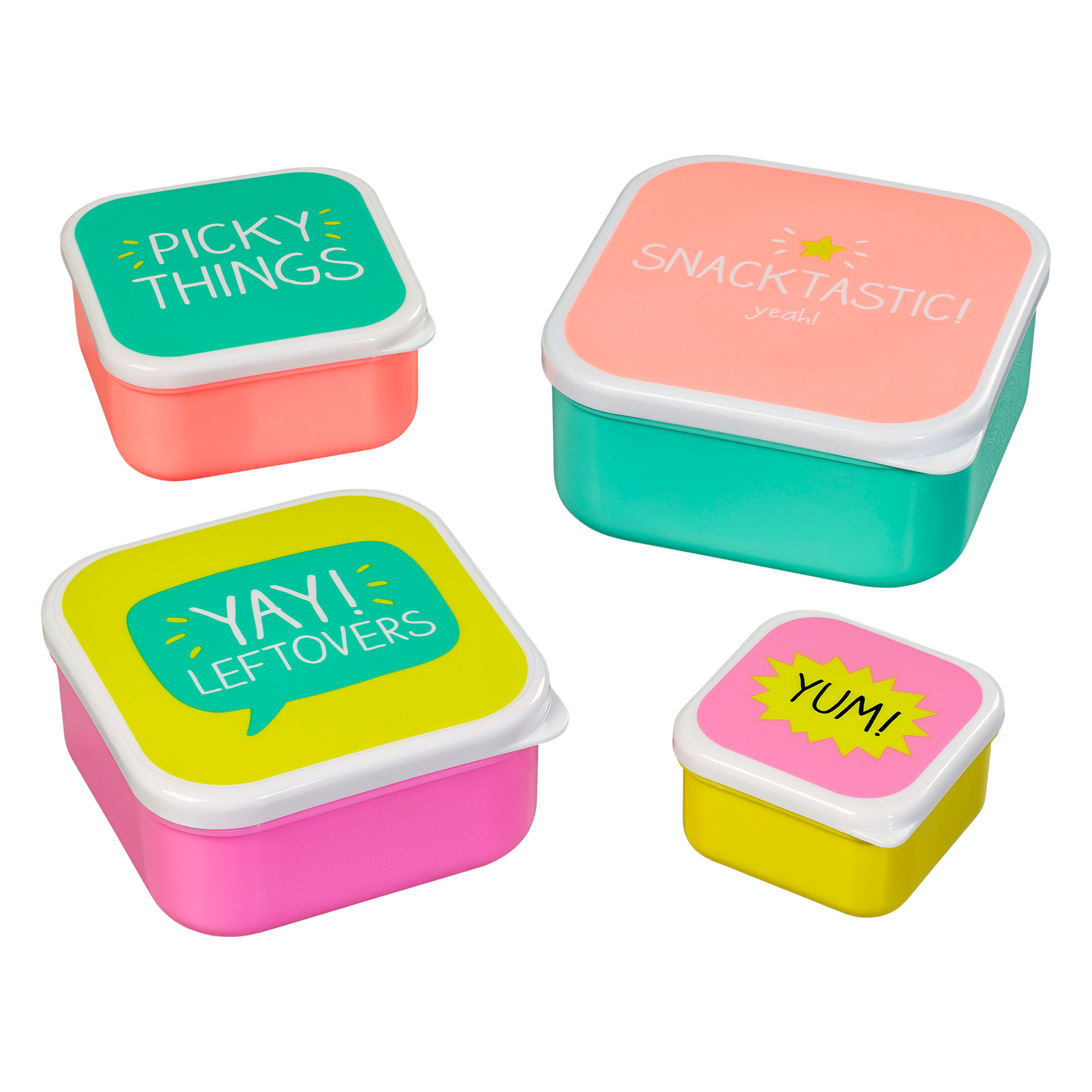 Snack Boxes, Set Of 4