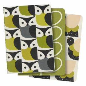 A6 Mini Notebooks, Set of 3, Birds