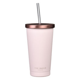 Tumbler with Straw, Pink