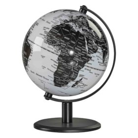 Desk Globe 6″, Monochrome